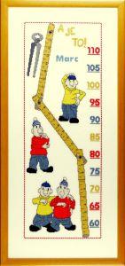 Borduurpakket Buurman & Buurman groeimeter.
