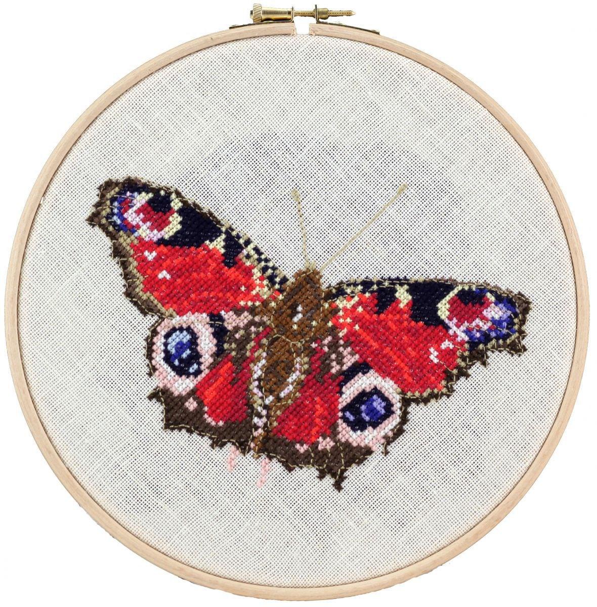 borduurpakket vlinder