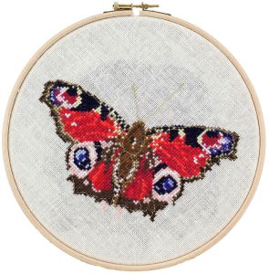 Borduurpakket dagpauwoog vlinder