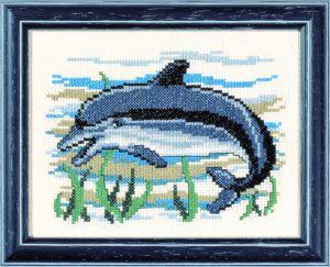 Borduurpakket dolfijn.