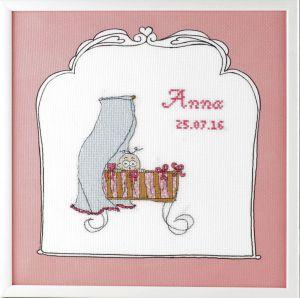 borduurpakket geboorte meisje Betje.com