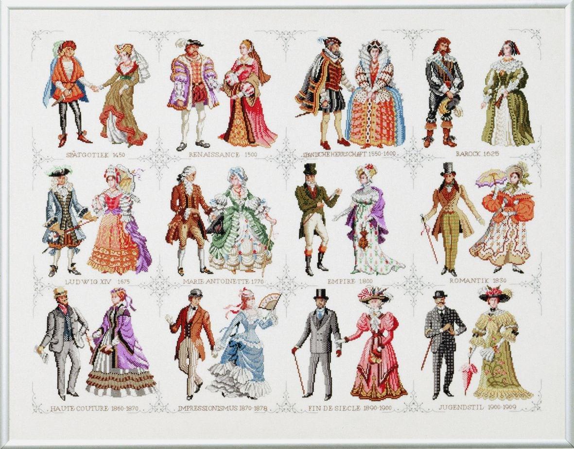 borduurpakket geschiedenis van de mode