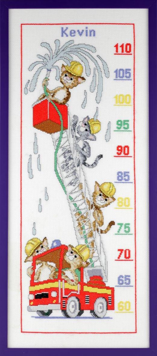 borduurpakket groei meter katten brandweer