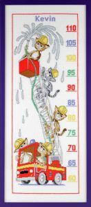 Borduurpakket groeimeter katten brandweer