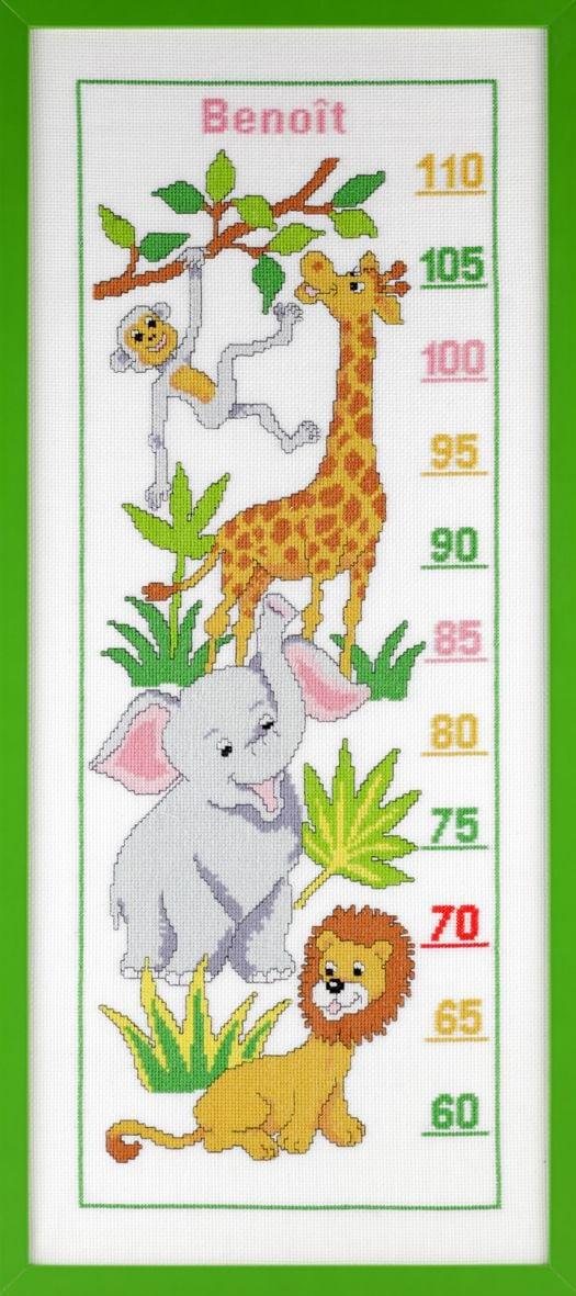 borduurpakket groeimeter dieren