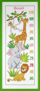 Borduurpakket groeimeter wilde dieren