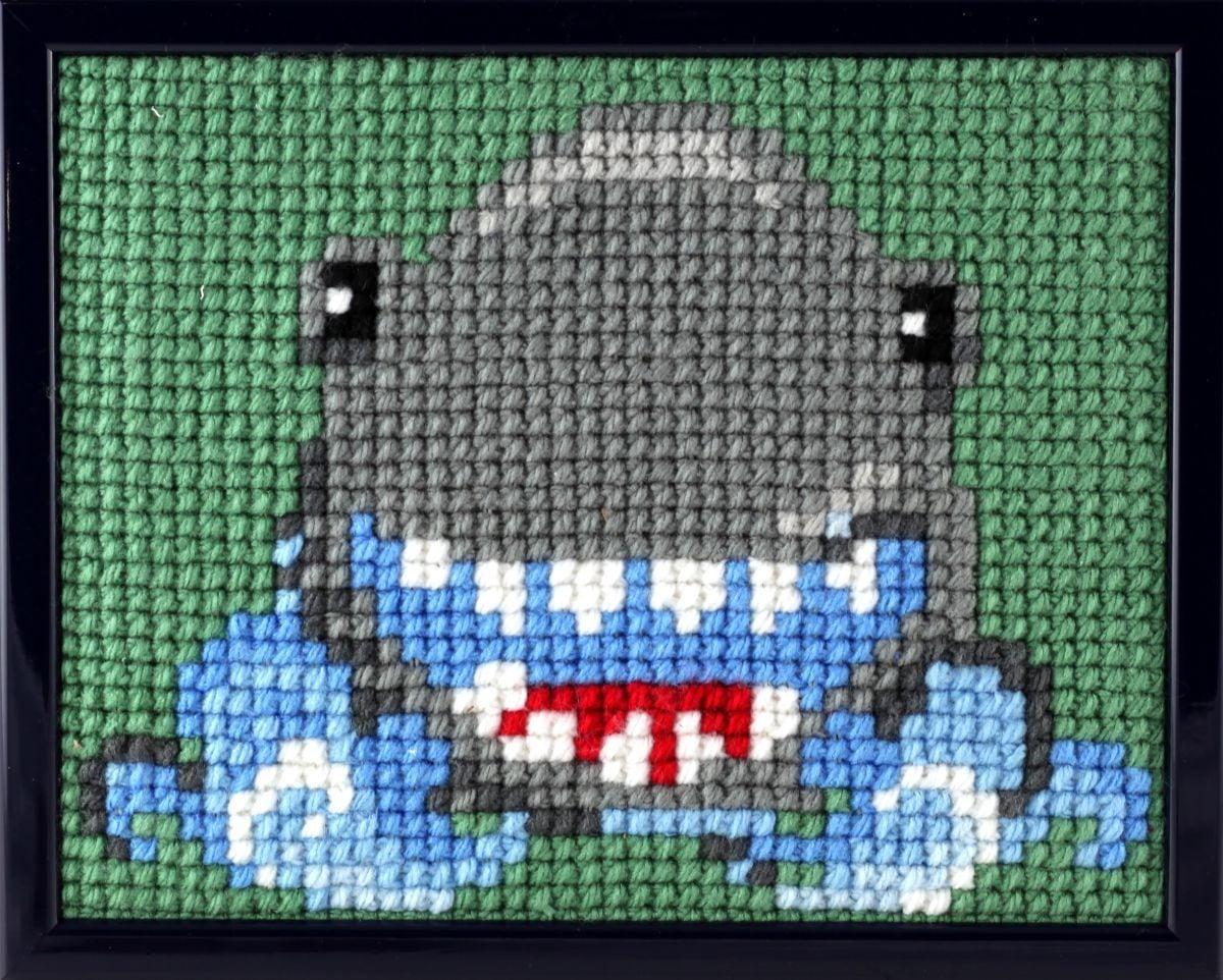 borduurpakket haai voor kinderen