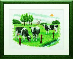 Borduurpakket Hollands landschap.