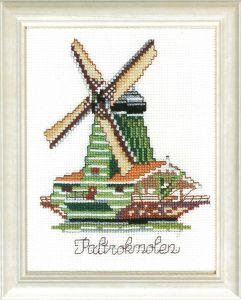 Borduurpakket Hollandse molen, de Paltrokmolen.
