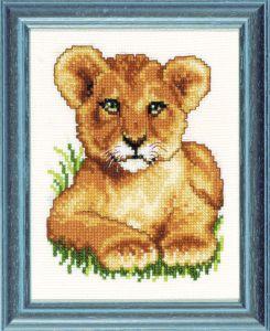 Borduurpakket jong leeuwtje