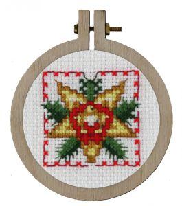Borduurpakket, leuke kersthanger voor in de kerstboom