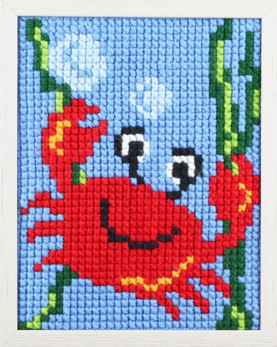 borduurpakket leuke krab voor kinderen