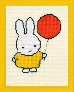 borduurpakket Nijntje met ballon, Dick Bruna