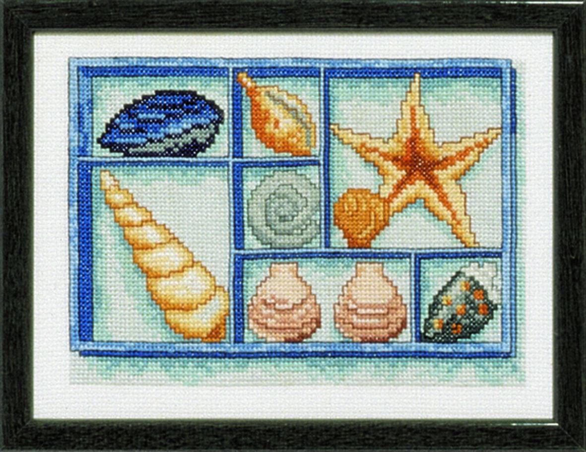 borduurpakket schelpenverzameling