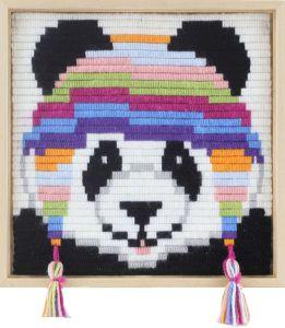 Borduurpakket voor kinderen korte platsteek panda