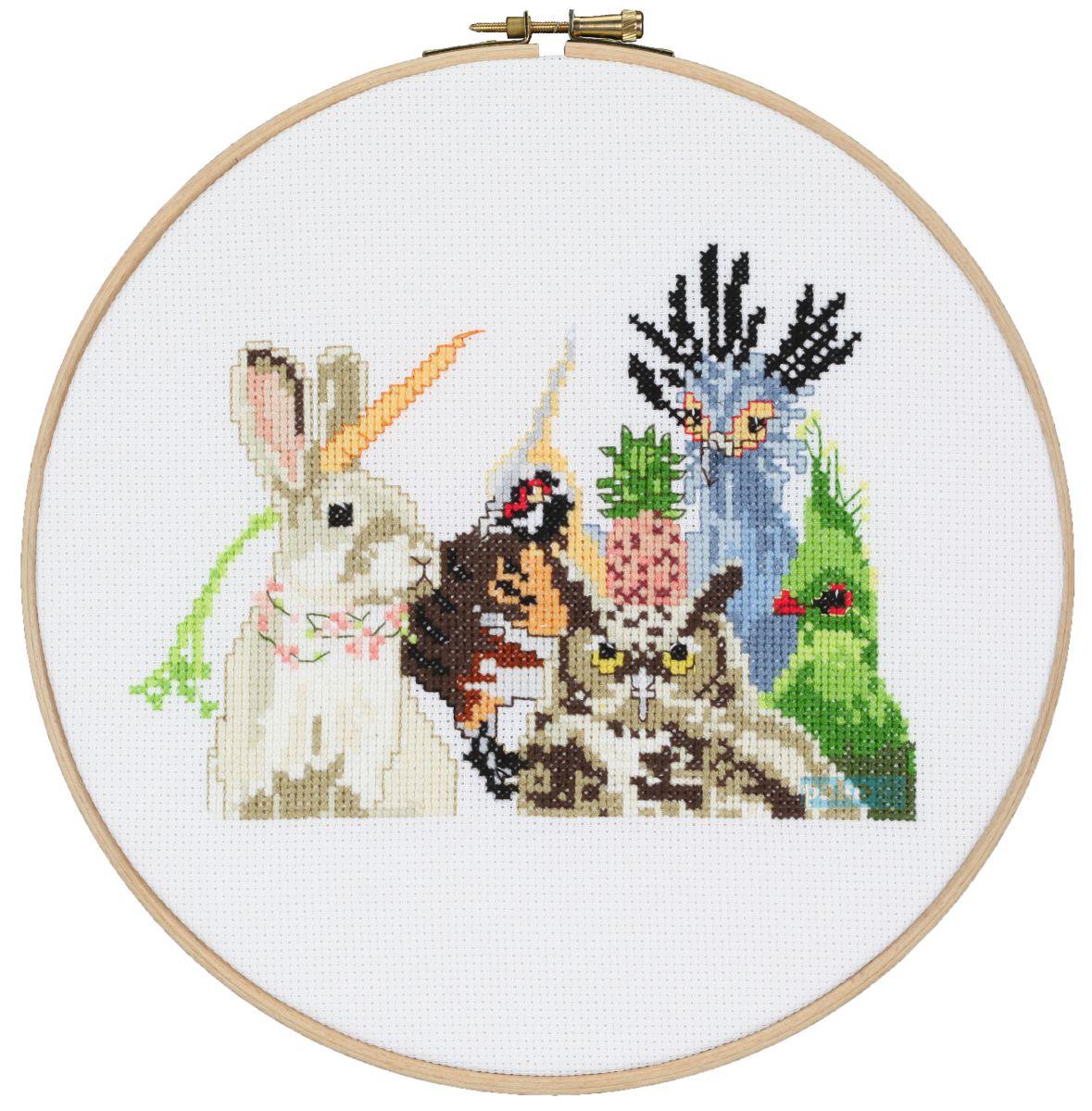 cross stitch animals party