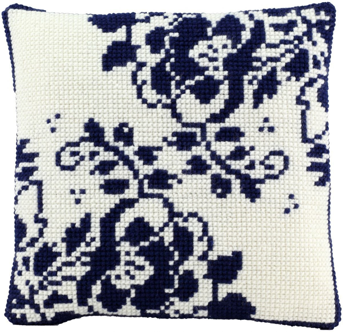 cross stitch cushion holland flower printed