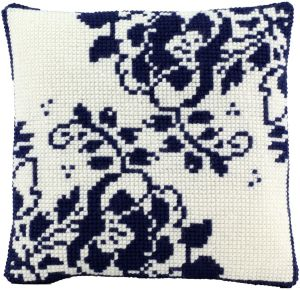 Cross stitch cushion Holland flower, printed