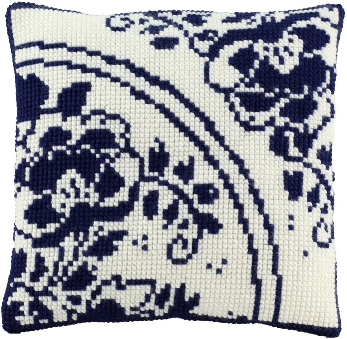 cross stitch cushion holland flower printed