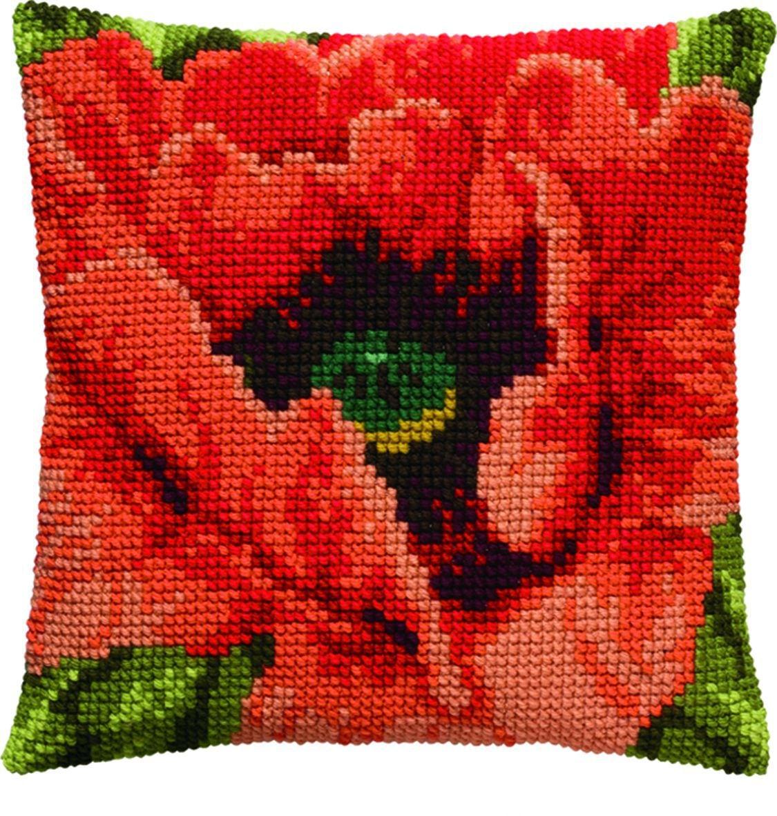 cross stitch cushion poppyprinted