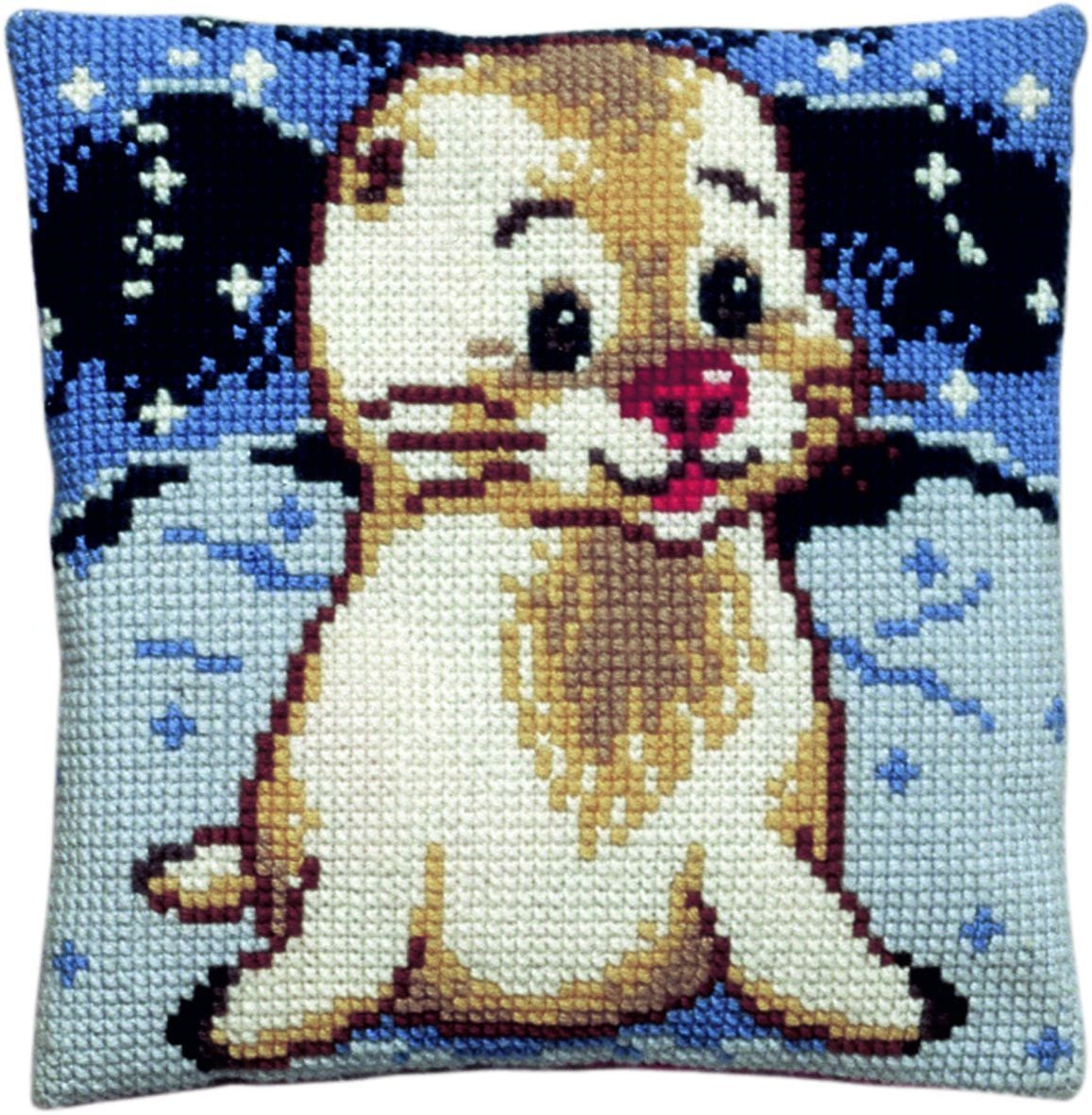 cross stitch cushion small seal for kids printed
