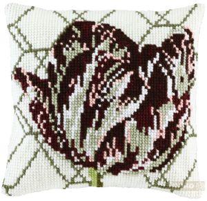 Cross stitch dutch tulip, printed