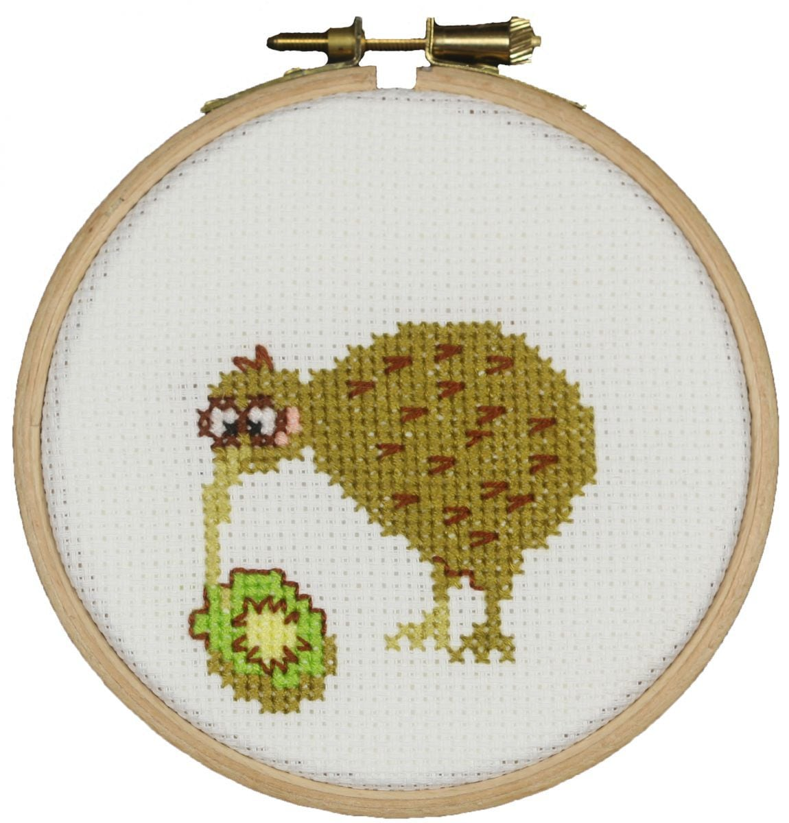 cross stitch funny kiwi bird