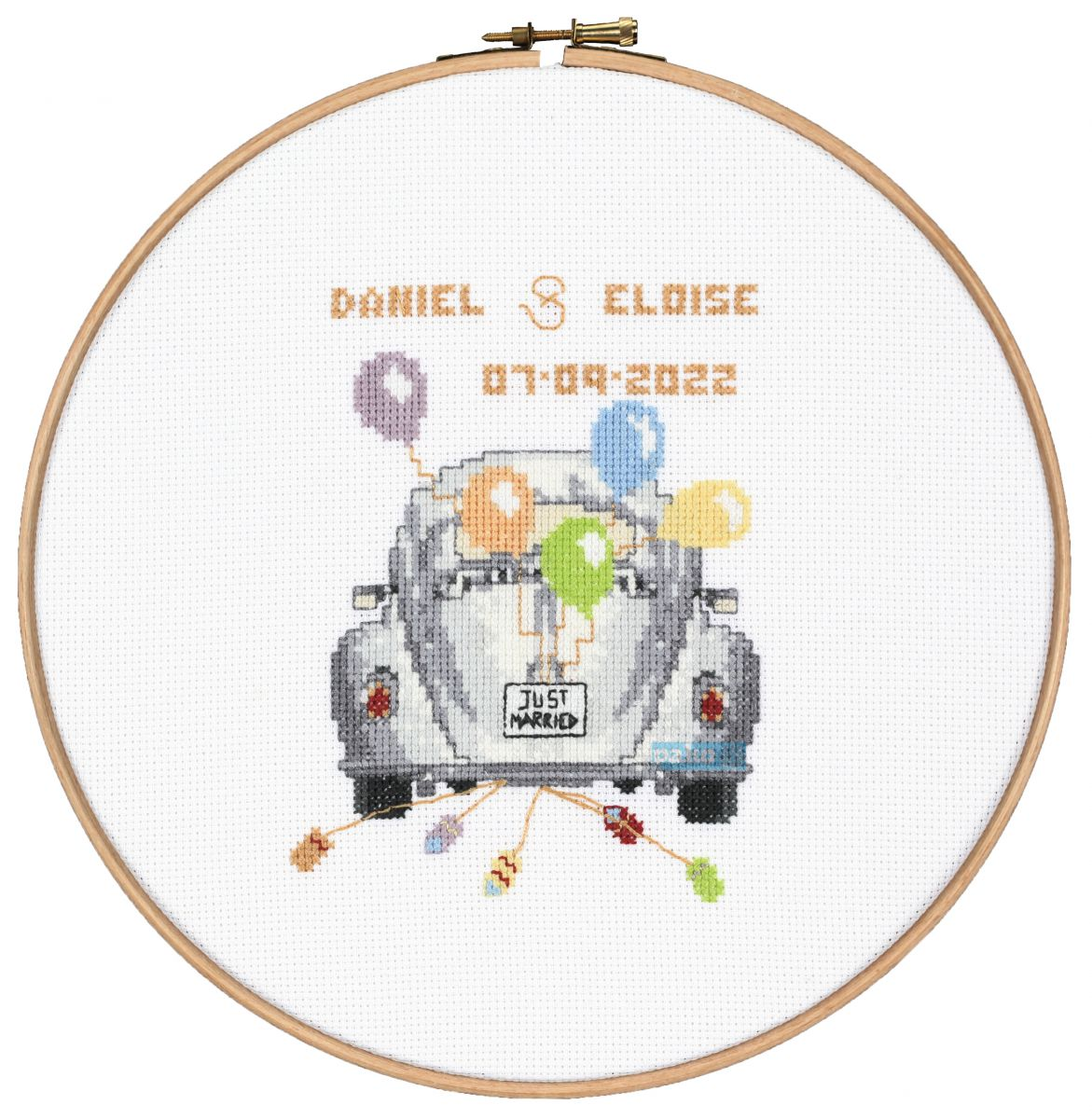 cross stitch just married