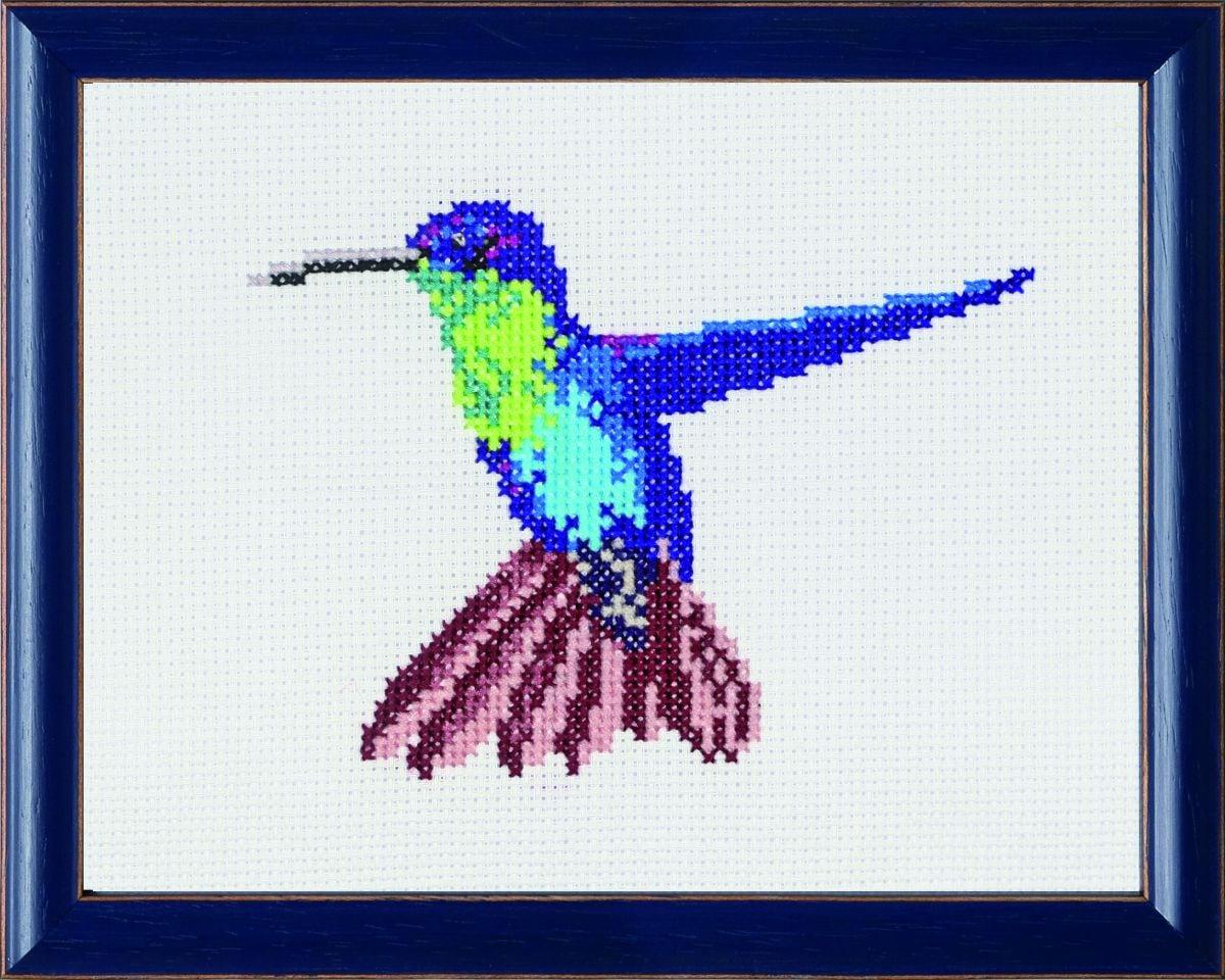 crossstitch kit hummingbird