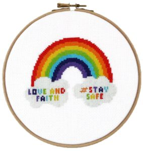 Cross-stitch kit Rainbow.