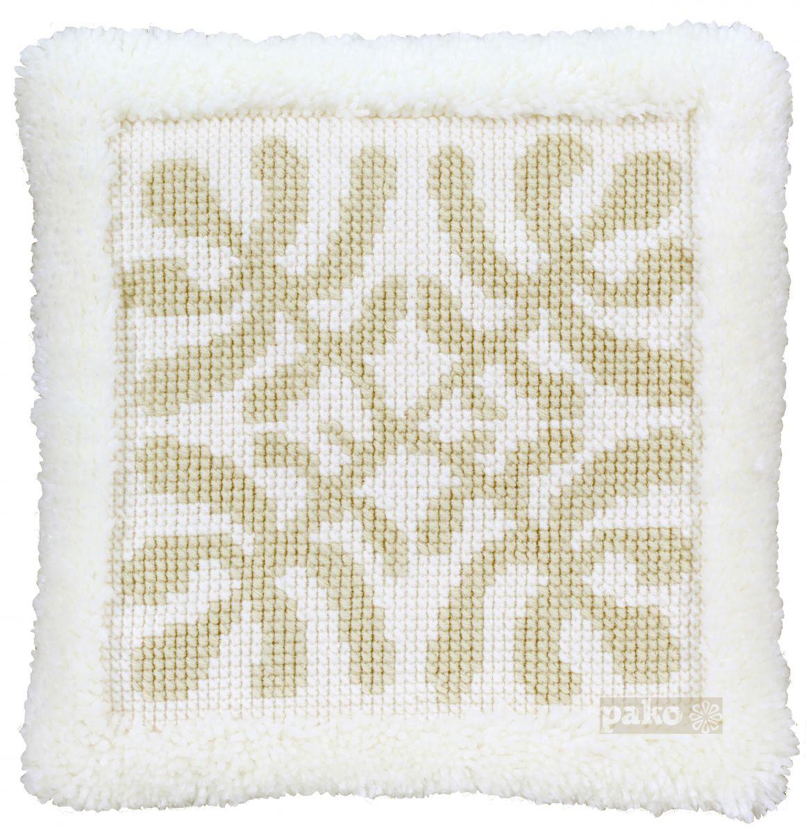 cross stitch latch cushion modern nature printed