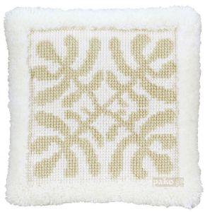 cross stitch & latch cushion modern nature, printed