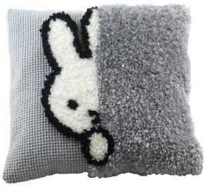 Cross stitch & latch hook cushion Miffy, Dick Bruna printed