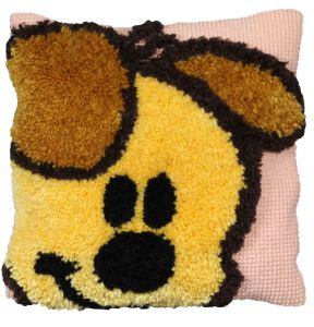Cross stitch & latch hook cushion Pip, Woezel&Pip printed