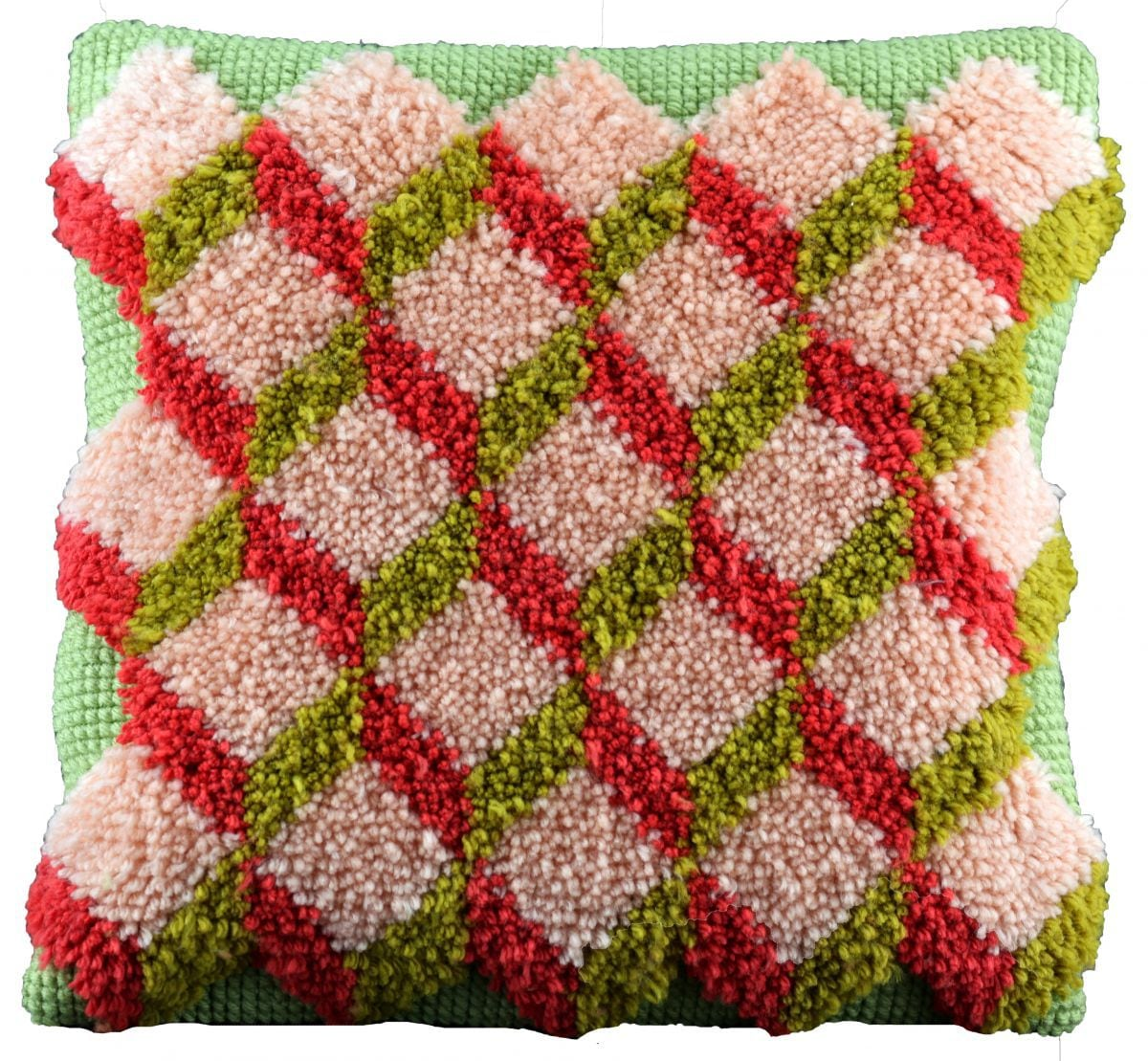 cross stitch latch hook cushion printed