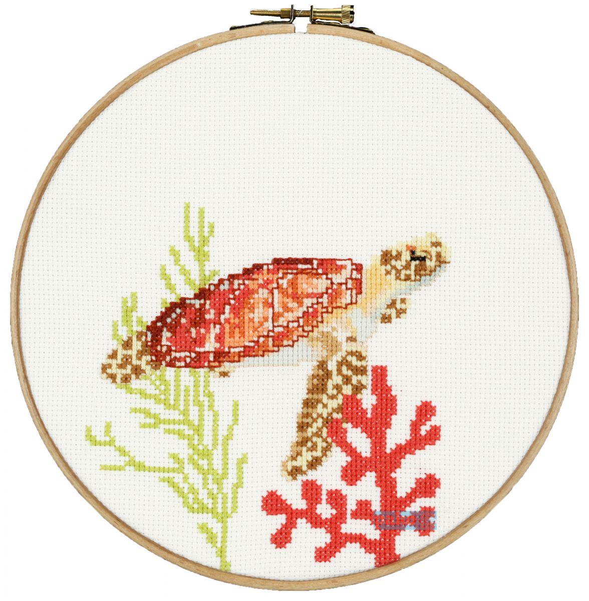 cross stitch sea turtle