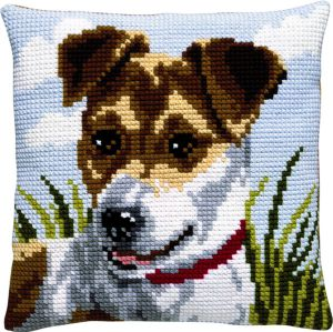 Cushion Jack russell embroidery kit