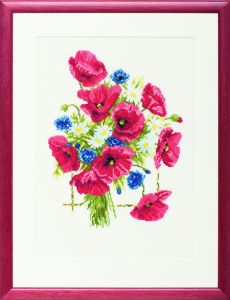 Embrodery kit poppies