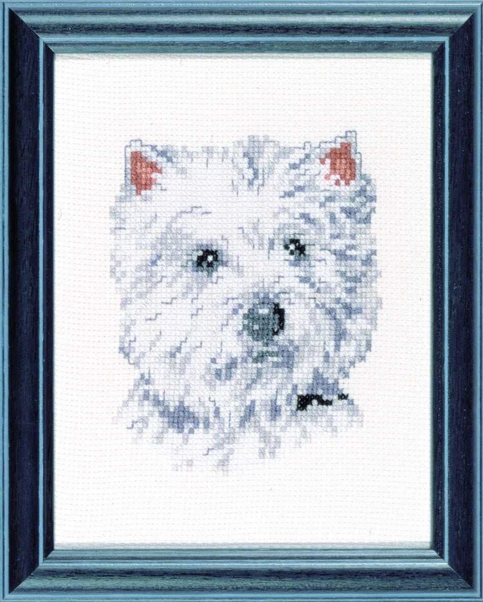 embrodery kit westie dog