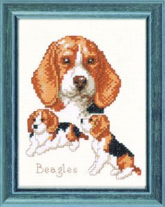 Embroidery kit Beagle dogs