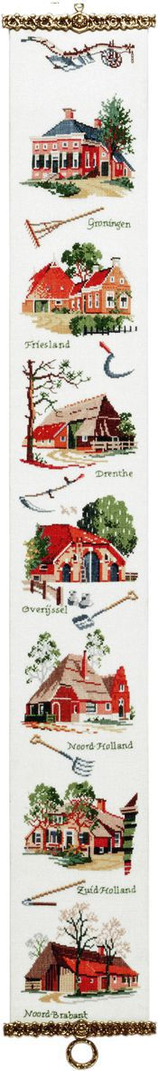 embroidery kit bell pull classic dutch farms