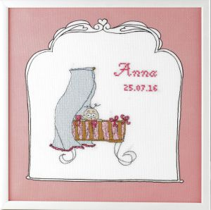 Embroidery kit birthday sampler little girl, Betje.com