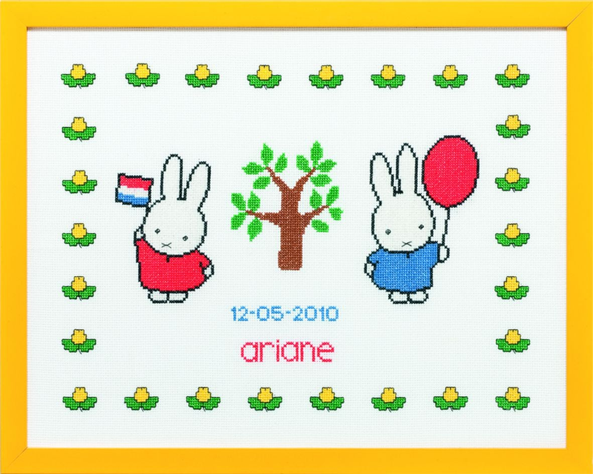 embroidery kit birthday sampler miffy celebratingdick bruna