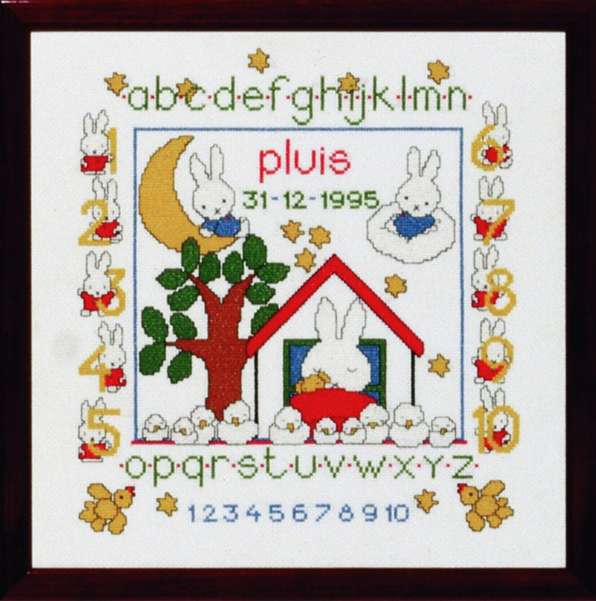 embroidery kit birthday sampler pluis dick bruna