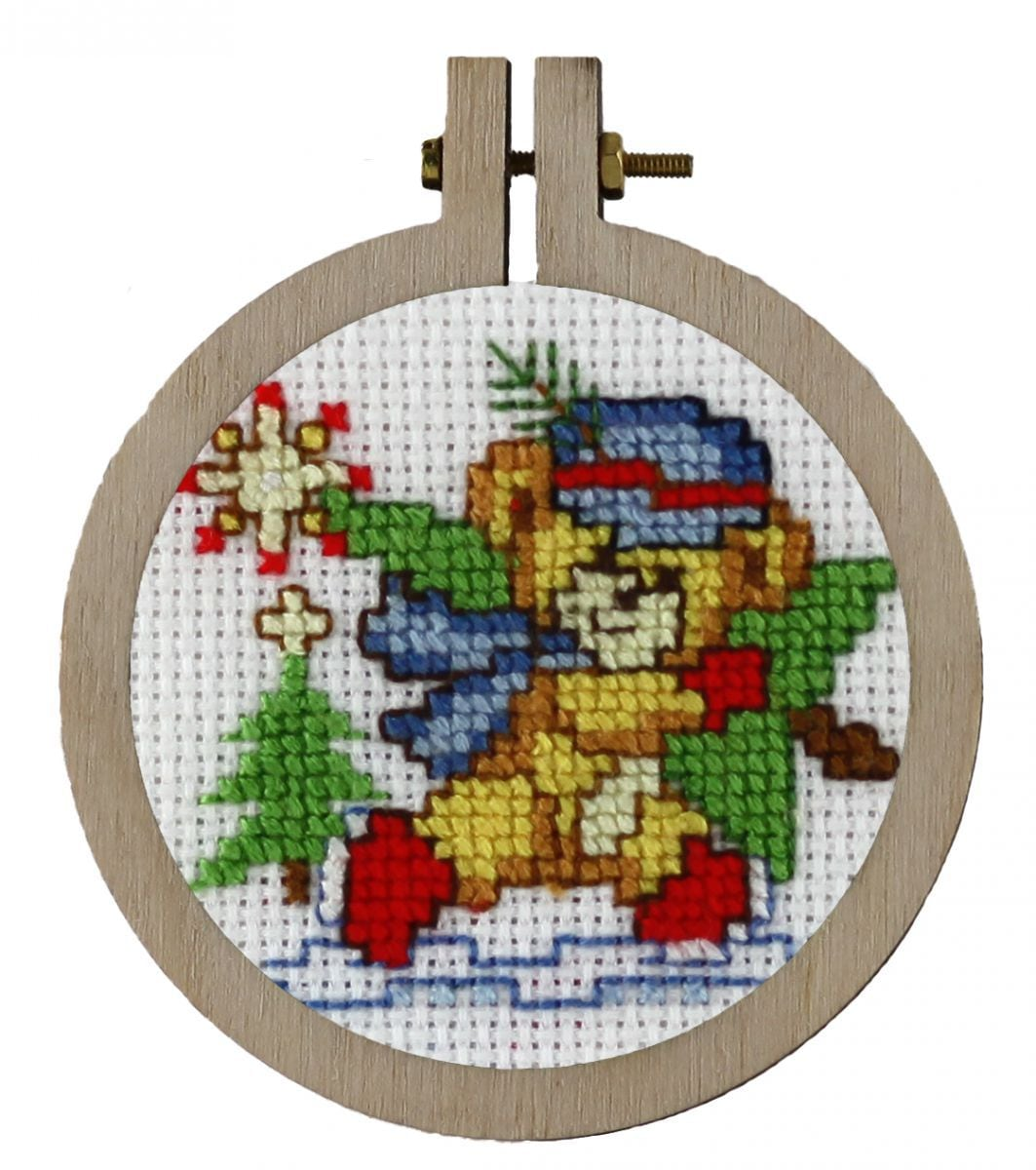 embroidery kit christmas ornament nice for the christmas tree