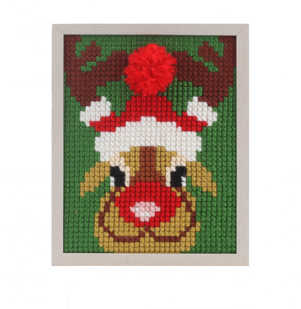 embroidery kit christmas reindeer for children painted