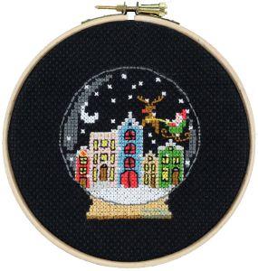Embroidery kit christmas snowball