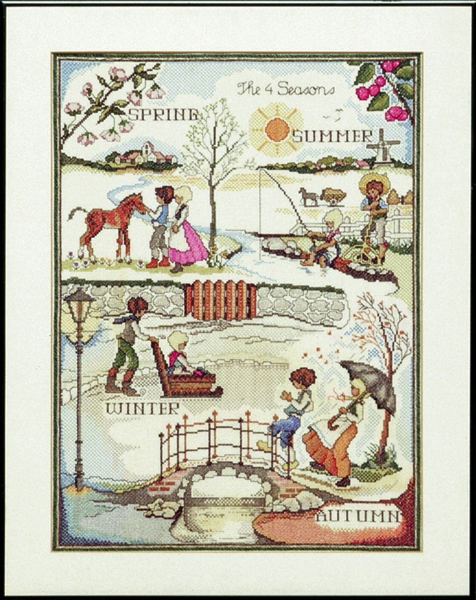 embroidery kit classic four seasons