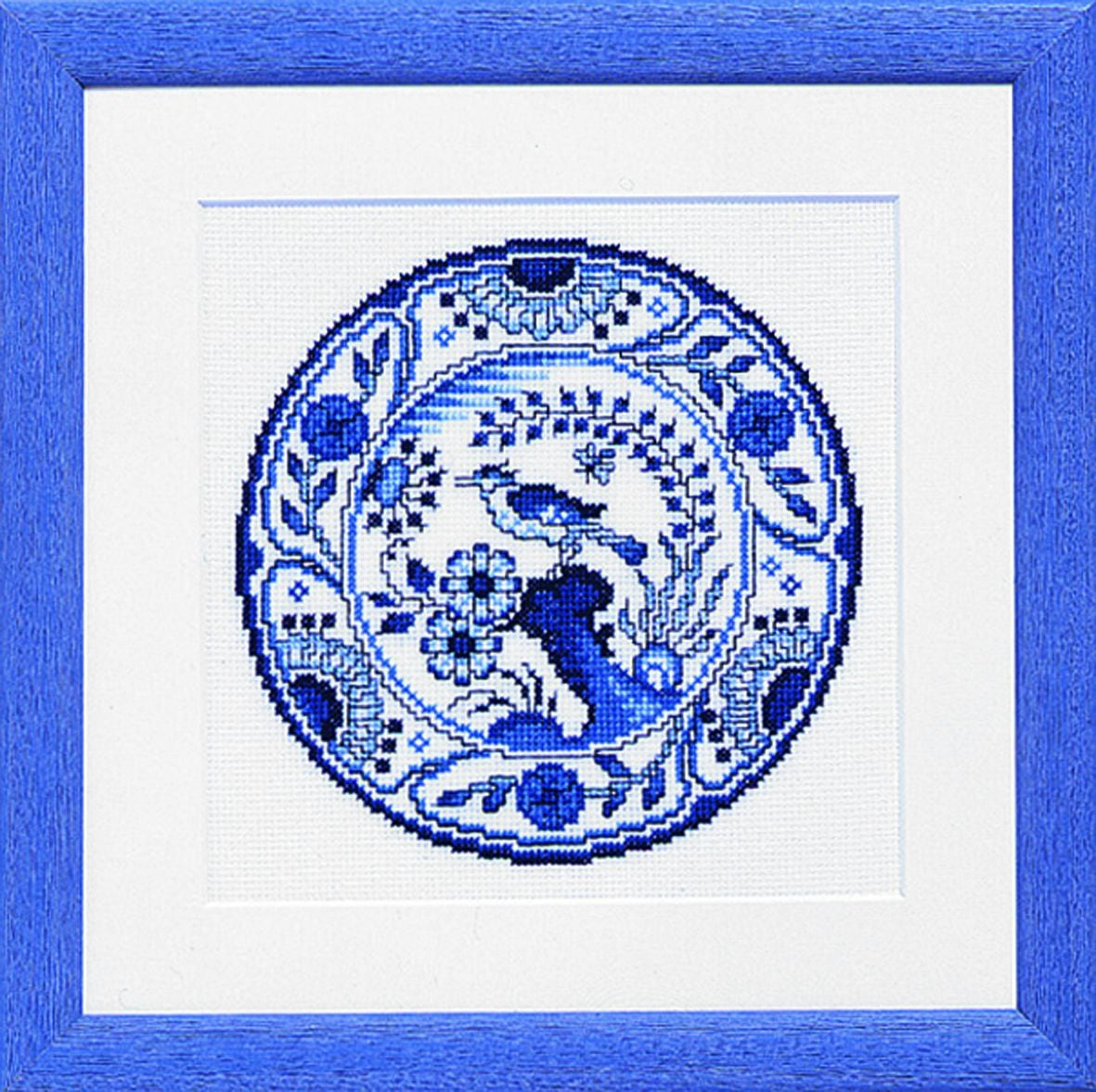 embroidery kit delft blue plate