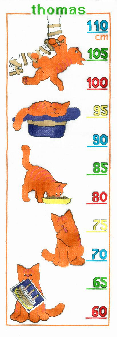 embroidery kit dikkie dik growing chart red tomcat